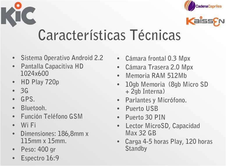 KIC Tablet llega a Venezuela de la mano de Cadena Capriles (2/3)